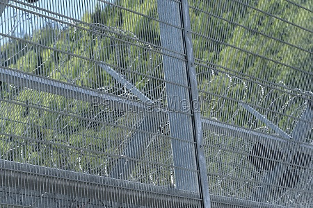 barbed, wire, fence, as, security, measurement - 29478542