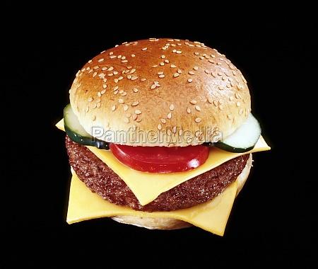 nahaufnahme eines hamburgers