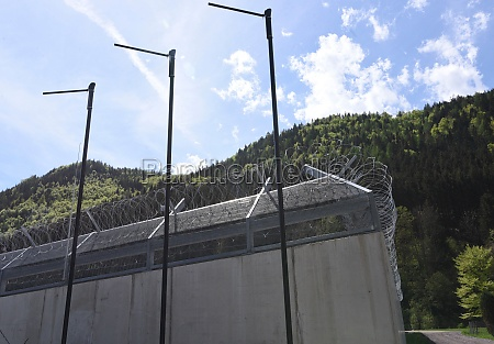 barbed, wire, fence, as, security, measurement - 29510081
