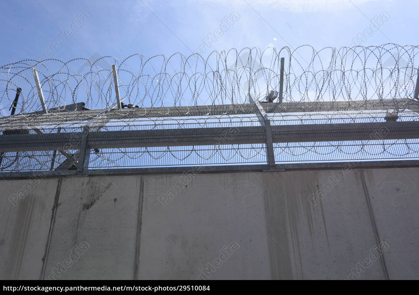 barbed, wire, fence, as, security, measurement - 29510084