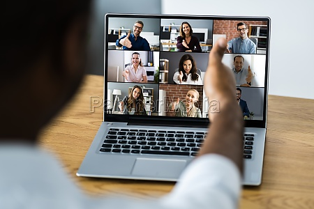 african business video conference business meeting