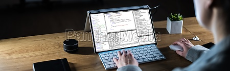 coder working at night