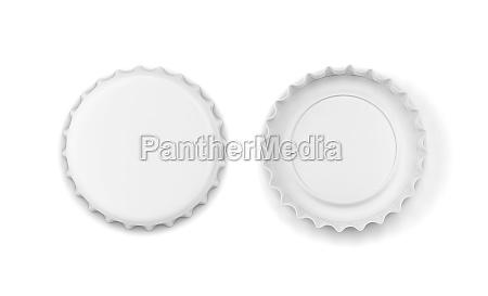 leere flaschenverschluss mockup 3d illustration isoliert