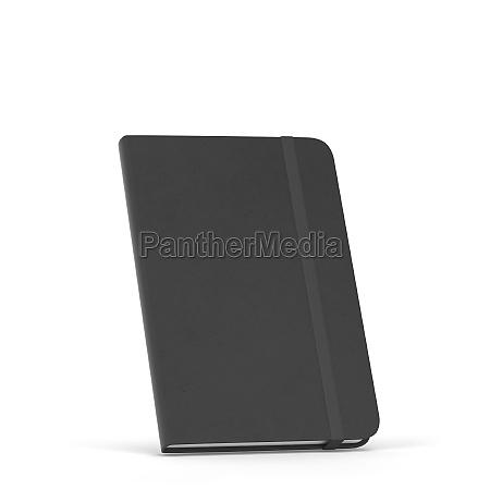 leeres notizbuch mit elastischem bandverschluss mockup