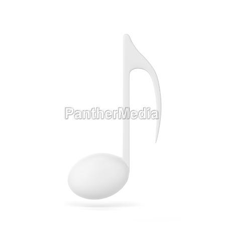 einzelne musiknote