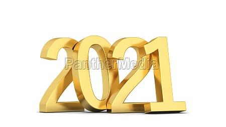 text 2021 neujahrsschild