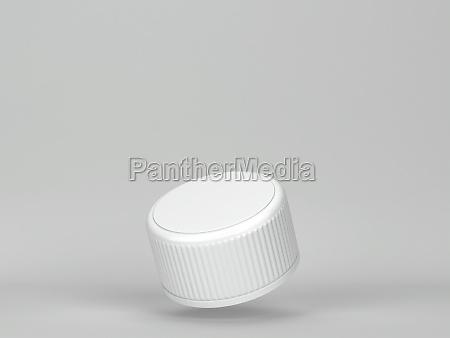 leere kunststoff flasche cap mockup 3d