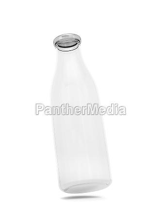 leere glasflasche 3d illustration isoliert auf