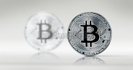 physische bitcoin virtuelle krypto waehrungsmuenze blockchain