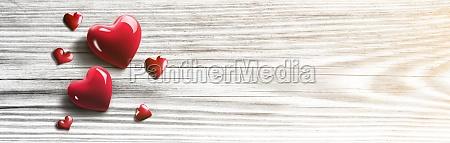 gluecklicher valentinstag herzfoermiges symbol der liebe