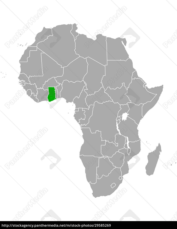 map, of, ghana, in, africa - 29585269