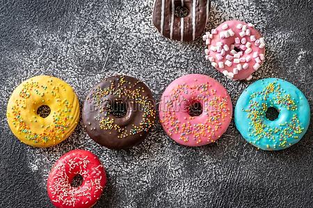 sortiment von donuts
