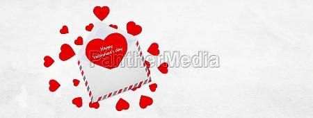 valentinstag konzept urlaub dekoration herz und