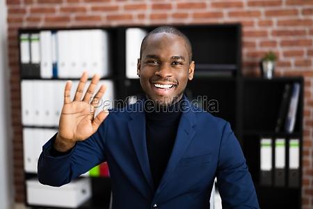 afroamerikanische elearning videokonferenz