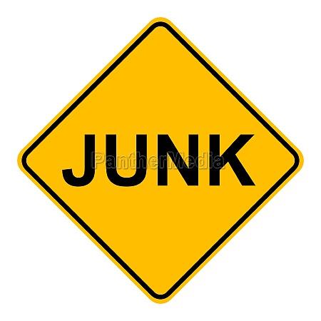 junk und verkehrszeichen
