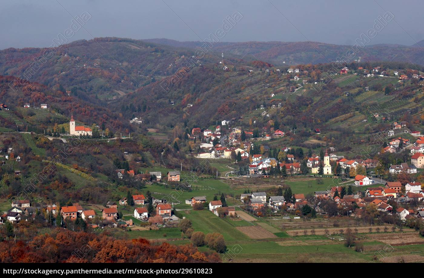 village, vugrovec, in, the, picturesque, hilly - 29610823