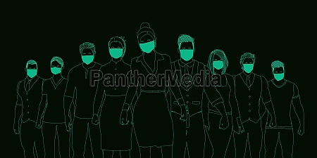 business, people, wearing, medical, masks - 29612455