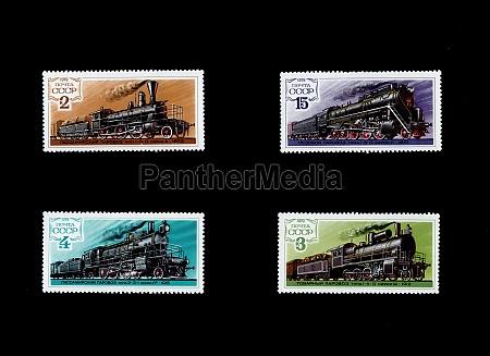 in, der, udssr, gedruckte, briefmarken, verschiedener - 29619332