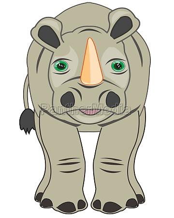 vektor illustration der karikatur des wildhorns