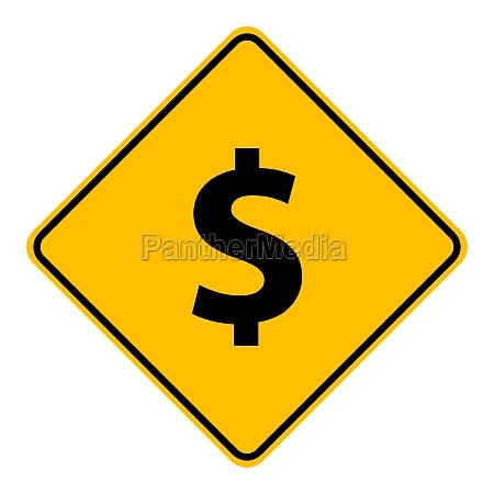dollar und strassenschild