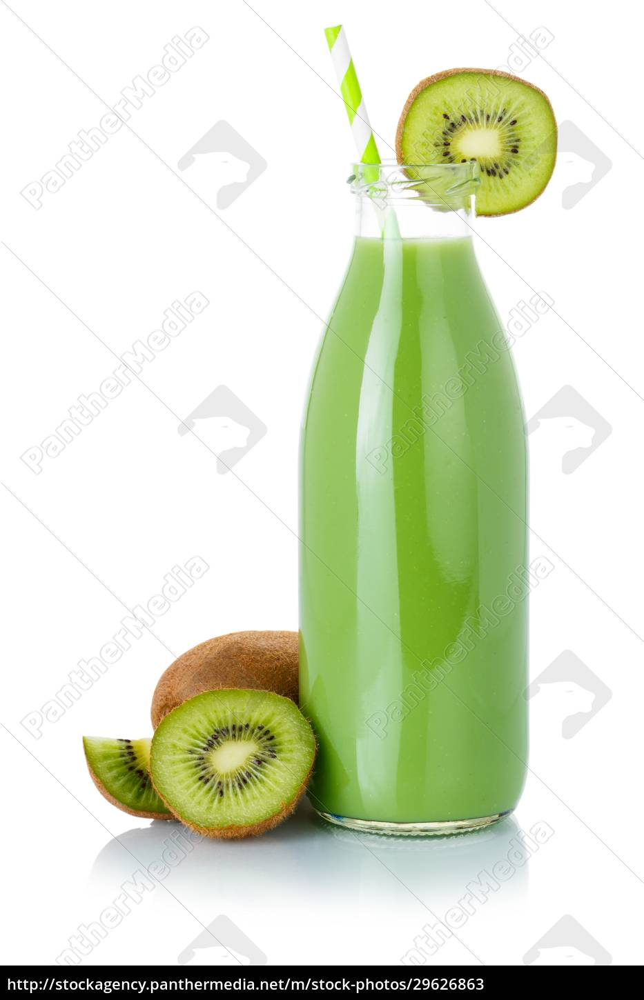 green, smoothie, fruit, juice, drink, straw - 29626863