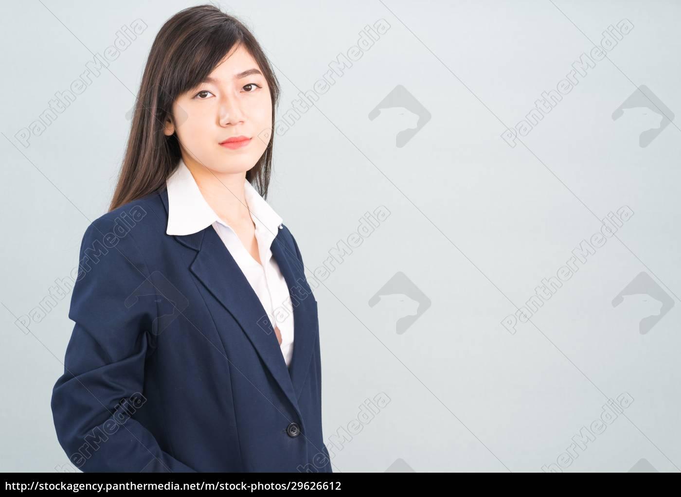 porträt, der, asiatischen, geschäftsfrau, isoliert, auf - 29626612