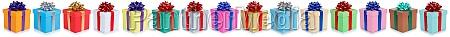 weihnachtsgeschenke viele geburtstagsgeschenke in einer reihe