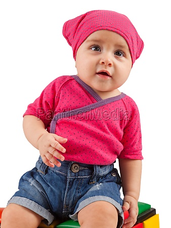nettes weibliches kleinkind