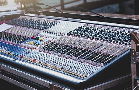 mixer zum bearbeiten von sound auf