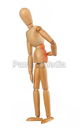 holzattrappe mit rueckenschmerzen