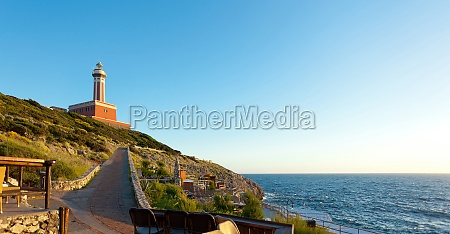 leuchtturm von capri island italien europa