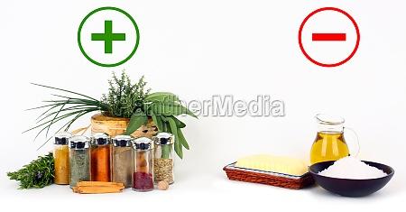 kraeuter und gewuerze versus fette und