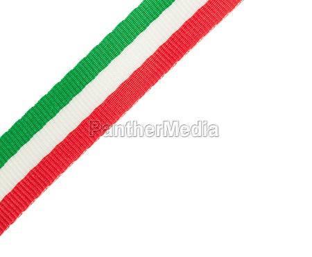 tricolor band der italienischen flagge in