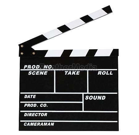 leere filmproduktion klappbrett
