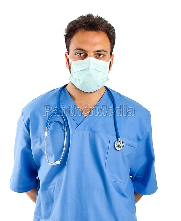 maennliche krankenschwester portraet