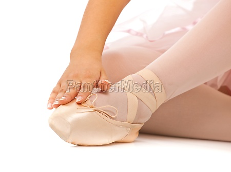 detail der fuesse des balletttaenzers