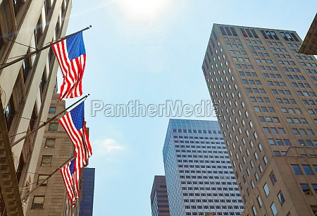 american, flags, in, new, york, city - 29644032
