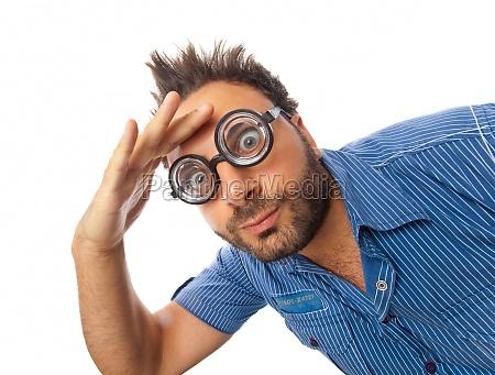 wow-ausdruck, mit, brille - 29644895