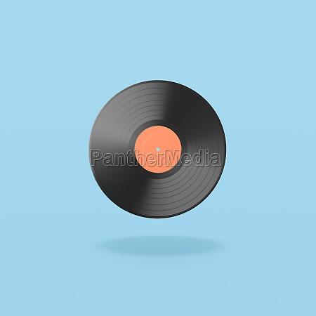 vinyl schallplatte auf blauem hintergrund