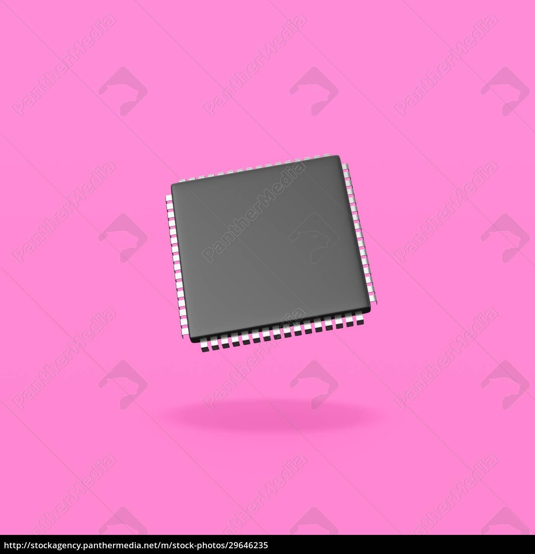 elektronischer, mikrochip, auf, lila, hintergrund - 29646235