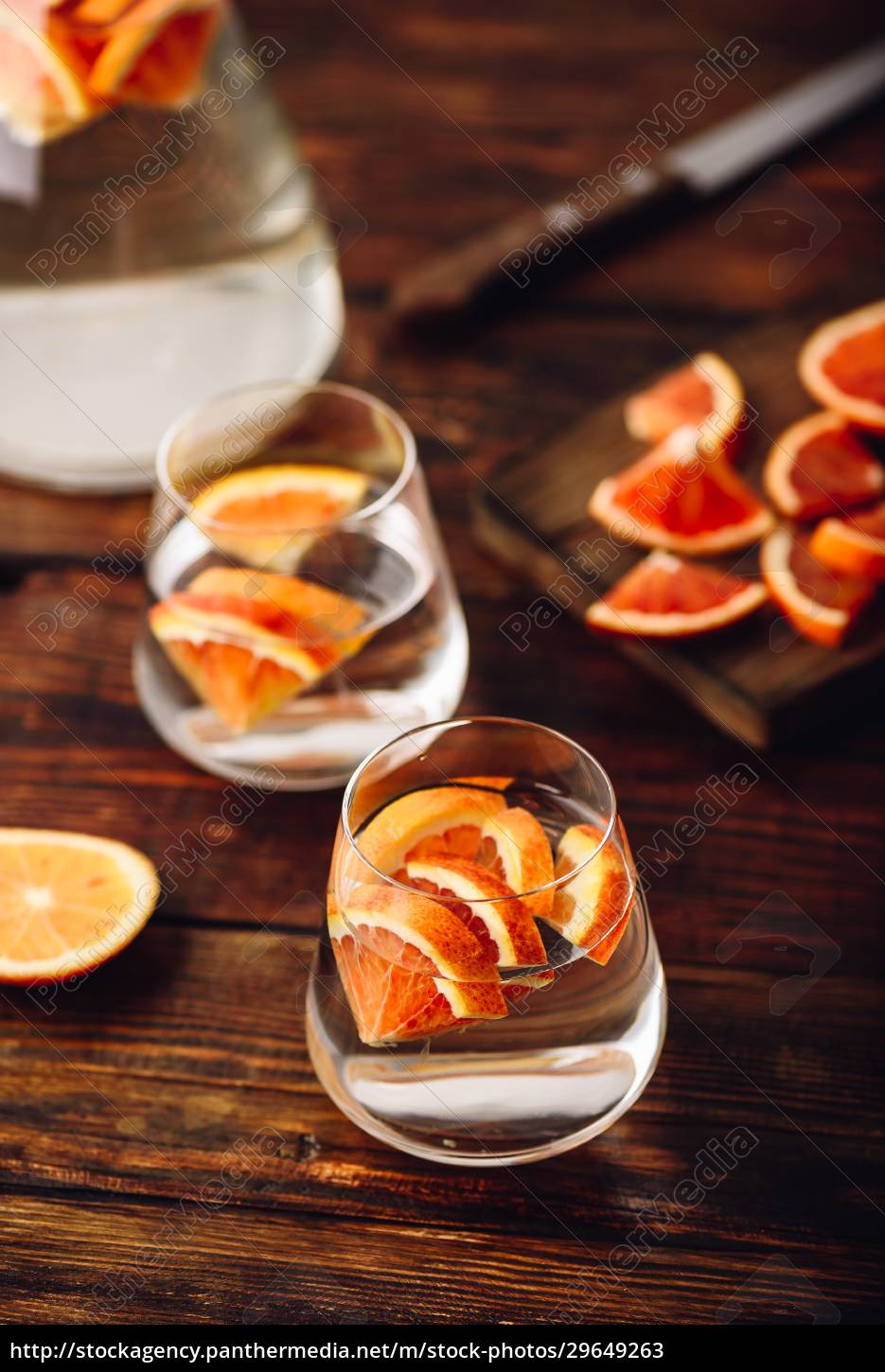 water, infused, with, red, oranges - 29649263