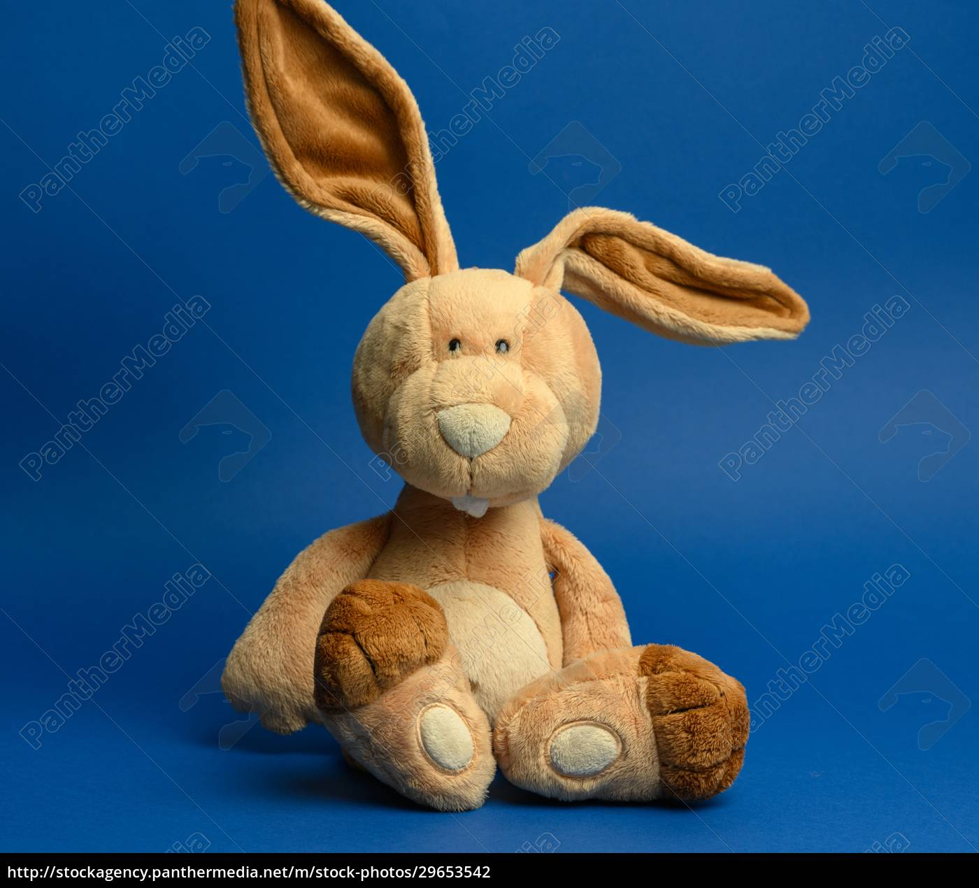 funny, beige, plush, rabbit, with, big - 29653542
