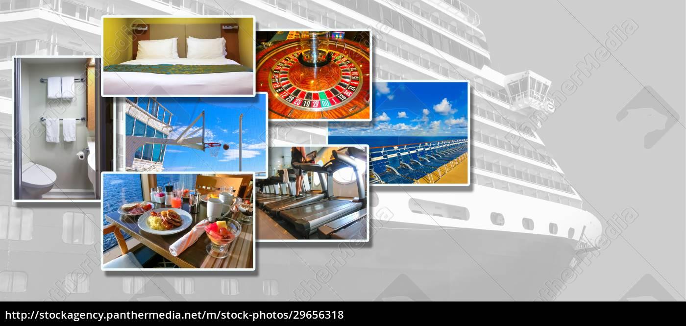 collage, über, abstraktes, kreuzfahrtschiff - 29656318