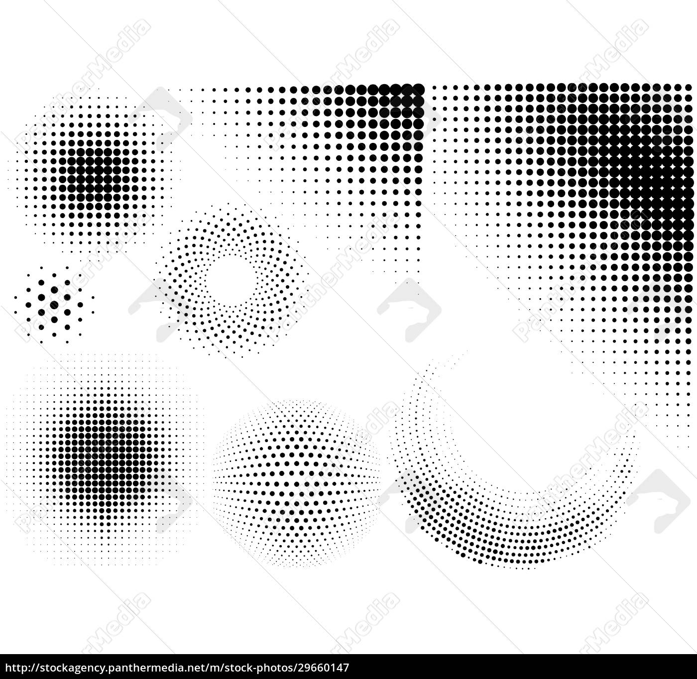 set, of, abstract, halftone, patterns - 29660147