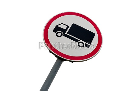 strassenschild das die bewegung von lastkraftwagen