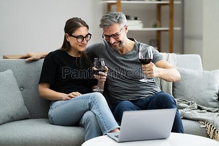 virtuelle, weinprobe, online, dinner, party - 29665439