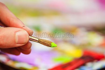 malerei kunstwerk pinsel auf malerei hintergrund