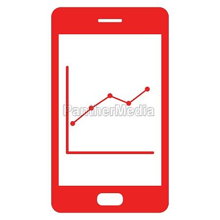diagramm und smartphone