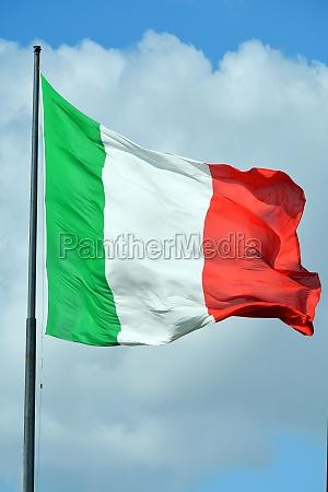 italienische nationalflagge italien