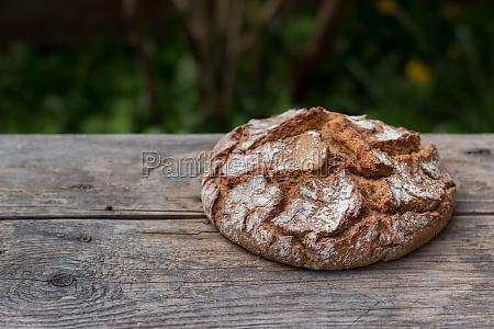 fresh, , crispy, bread, on, rustic, wooden - 29672263